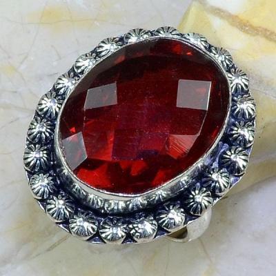 Gr 0623a bague t64 chevaliere grenat mozambique achat vente bijou argent 925