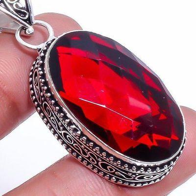 Gr 0708c pendentif pendant grenat 16gr 18x30mm achat vente bijou ethnique argent 925