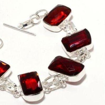 Gr 0740b bracelet grenat 28gr 15x20mm achat vente bijou ethnique argent 925