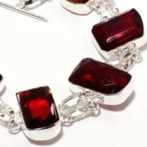 Gr 0740c bracelet grenat 28gr 15x20mm achat vente bijou ethnique argent 925