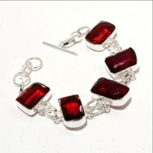 Gr 0740d bracelet grenat 28gr 15x20mm achat vente bijou ethnique argent 925