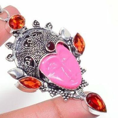 Gr 0790c pendentif pendant grenat 19gr bouddha 8x10mm achat vente bijou ethnique argent 925