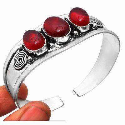 Gr 0855a bracelet torque grenat 31gr 10x16mm achat vente bijou ethnique gothique argent 925