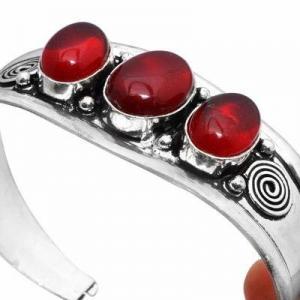 Gr 0855b bracelet torque grenat 31gr 10x16mm achat vente bijou ethnique gothique argent 925