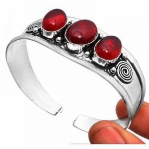 Gr 0855d bracelet torque grenat 31gr 10x16mm achat vente bijou ethnique gothique argent 925