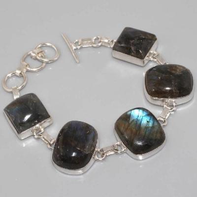 LB-0509 - Superbe BRACELET en LABRADORITE et Argent 925 - 175 carats