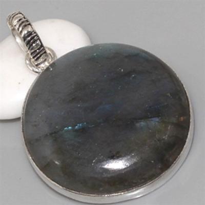 LB-0526 - Beau PENDENTIF PENDANT en LABRADORITE et Argent 925 - 85 carats