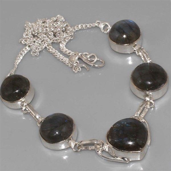 Lb 0527a collier parure sautoir labradorite achat vente argent 925