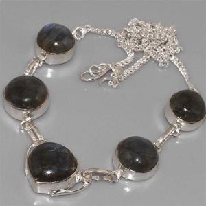 Lb 0527b collier parure sautoir labradorite achat vente argent 925