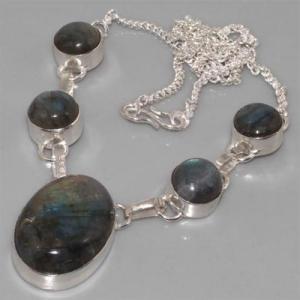 Lb 0541b collier labradorite achat vente argent 925