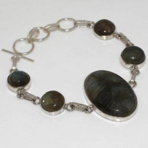 Lb 0571a bracelet labradorite achat vente plq argent 925