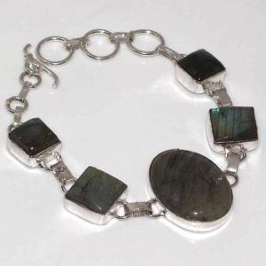 Lb 0573a bracelet labradorite achat vente plq argent 925