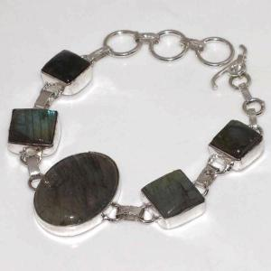 Lb 0573c bracelet labradorite achat vente plq argent 925