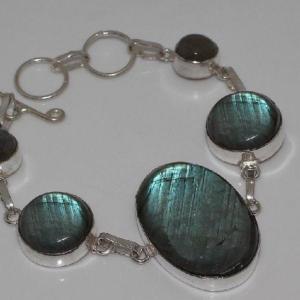 Lb 0575b bracelet labradorite achat vente plq argent 925