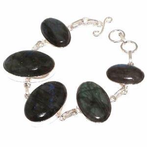 Lb 0576c bracelet labradorite achat vente plq argent 925