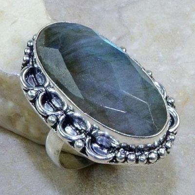 Lb 0609b bague t57 labradorite facettee achat vente bijoux argent 925