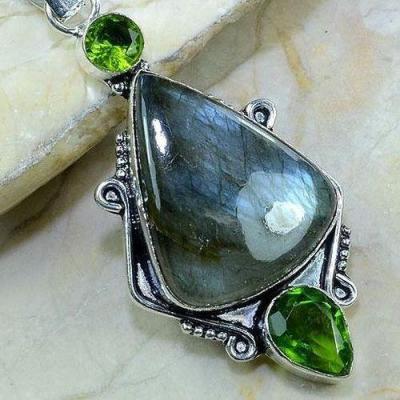 Lb 0614c pendant pendentif labradorite achat vente bijou argent 925