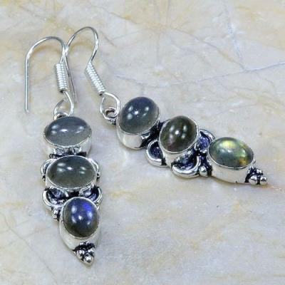 Lb 0615a boucles pendants oreilles labradorite achat vente bijou argent 925