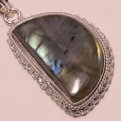 Lb 0616c pendant pendentif labradorite achat vente bijou argent 925