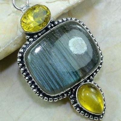 Lb 0617c pendant pendentif labradorite citrine achat vente bijou argent 925
