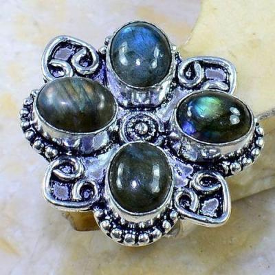 Lb 0652a bague chevaliere medievale t60 labradorite achat vente bijoux argent 925