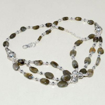 Lb 0727a collier sautoir parure sautoir labradorite 48gr achat vente bijou argent 925