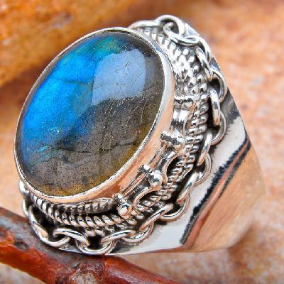 Lb 0783b bague chevaliere t57 labradorite 8gr 12x16mm achat vente bijou argent 925