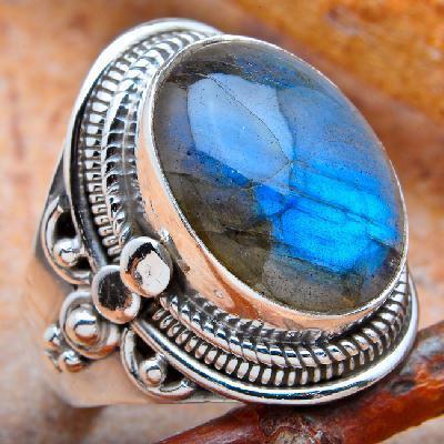 Lb 0786a bague chevaliere t56 labradorite 8gr 12x16mm achat vente bijou argent 925