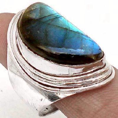 Lb 0787b bague chevaliere t58 labradorite 9gr 12x22mm achat vente bijou argent 925