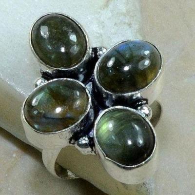 Lb 0792b bague chevaliere t59 labradorite 9gr 8x10mm achat vente bijou argent 925