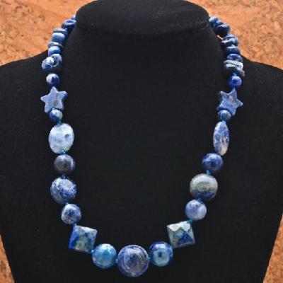Lpc 022a collier sautoir parure lapis lazuli achat vente bijou argent 925