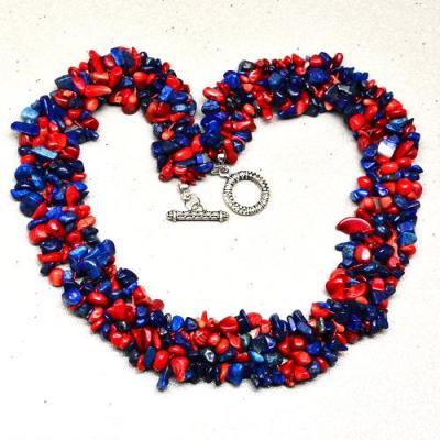 Lpc 140c collier parure lapis lazuli corail achat vente bijou argent 925