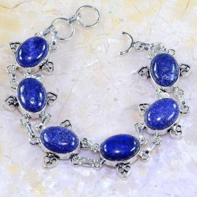 Lpc 141a bracelet lapis lazuli bijou argent 925 achat vente