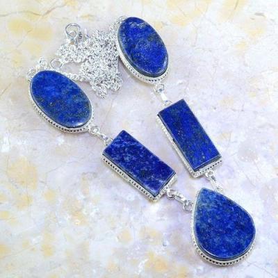 Lpc 142a collier parure lapis lazuli corail achat vente bijou argent 925