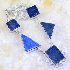 Lpc 144a collier parure lapis lazuli corail achat vente bijou argent 925