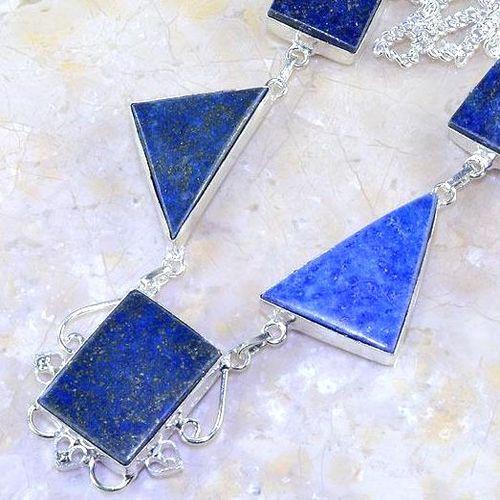 Lpc 144b collier parure lapis lazuli corail achat vente bijou argent 925