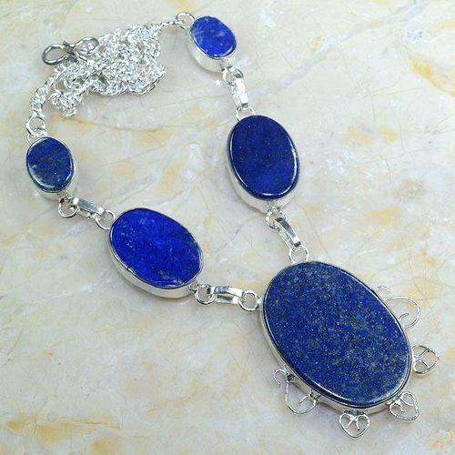 Lpc 147a collier parure sautoir lapis lazuli achat vente bijou argent 925