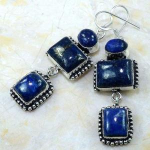 Lpc 150b boucles pendants oreilles lapis lazuli ethnique afghanistan achat vente bijou argent 925