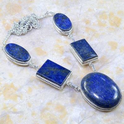 Lpc 155a collier parure sautoir lapis lazuli ethnique afghanistan achat vente bijou argent 925