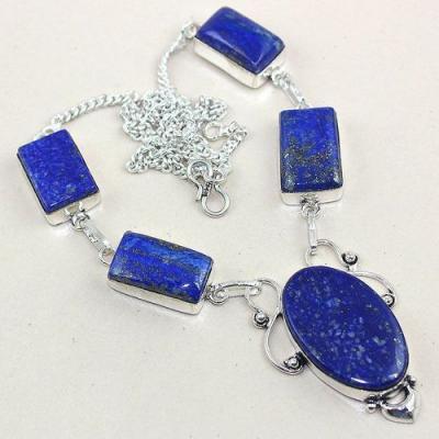 Lpc 157a collier parure sautoir lapis lazuli ethnique afghanistan achat vente bijou argent 925