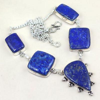 Lpc 159a collier parure sautoir lapis lazuli ethnique afghanistan achat vente bijou argent 925