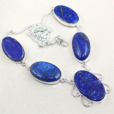 Lpc 166a collier parure sautoir lapis lazuli ethnique afghanistan achat vente bijou argent 925