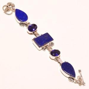 Lpc 179a bracelet lapis lazuli bijou ethnique afghan argent 925 achat vente