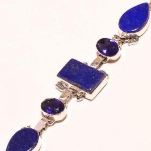 Lpc 179b bracelet lapis lazuli bijou ethnique afghan argent 925 achat vente