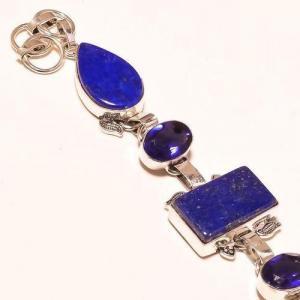 Lpc 179c bracelet lapis lazuli bijou ethnique afghan argent 925 achat vente