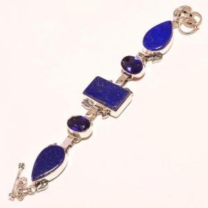 Lpc 179d bracelet lapis lazuli bijou ethnique afghan argent 925 achat vente