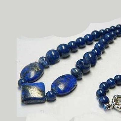 Lpc 182c collier sautoir lapis lazuli bijou ethnique afghan argent 925 achat vente