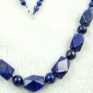 Lpc 196d collier sautoir lapis lazuli bleu bijou ethnique argent 925 achat vente