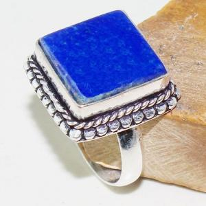 Lpc 198a bague chevaliere t59 lapis lazuli 15x15mm bijou ethnique afghan argent 925 achat vente