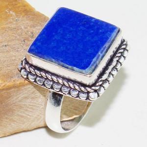 Lpc 198b bague chevaliere t59 lapis lazuli 15x15mm bijou ethnique afghan argent 925 achat vente